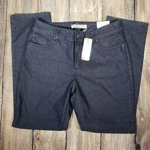 Chicos Platinum short slim leg Jeans size 1